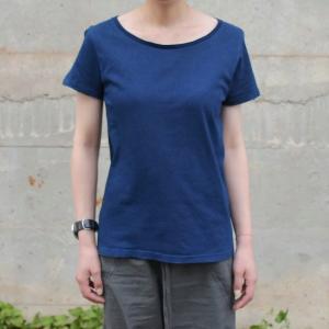 レディース 琉球藍染め 半袖 Tシャツ 薄手 着心地良い カットソー|studio-ichi|03