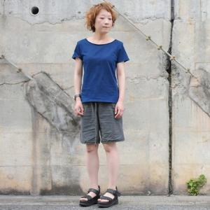 レディース 琉球藍染め 半袖 Tシャツ 薄手 着心地良い カットソー|studio-ichi|05