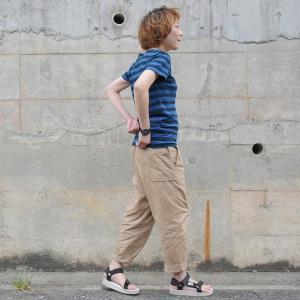 レディース 琉球藍染め ボーダー Tシャツ 半袖 可愛い 紺|studio-ichi|02