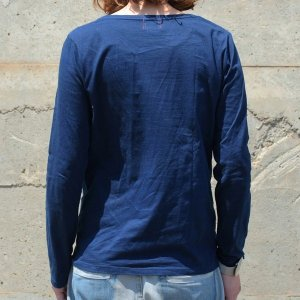 レディース 藍染め ロングスリーブ Tシャツ ロンT 長袖 薄手 着心地良い プレゼント ギフト|studio-ichi|05