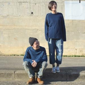レディース 琉球 藍染め クルーネック カットオフ スウェット|studio-ichi|06
