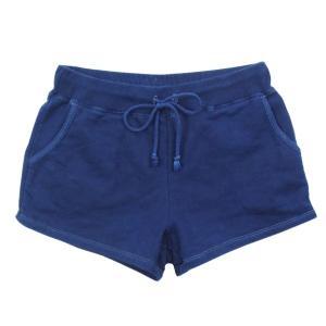 琉球藍染め スウェット ショートパンツ ホットパンツ 短い|studio-ichi|02