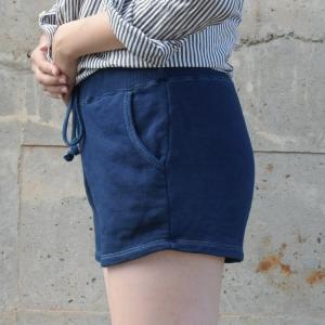 琉球藍染め スウェット ショートパンツ ホットパンツ 短い|studio-ichi|04