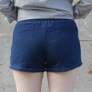 琉球藍染め スウェット ショートパンツ ホットパンツ 短い|studio-ichi|05