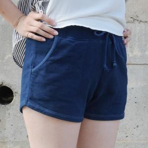 琉球藍染め スウェット ショートパンツ ホットパンツ 短い|studio-ichi|06