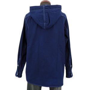 藍染め 長袖 シャツ パーカー メンズ フードシャツ アウター ジャケット|studio-ichi|04