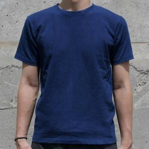 Tシャツ 半袖 コットン 綿 しっかり 藍染め 琉球藍染め メンズ カットソー|studio-ichi|02