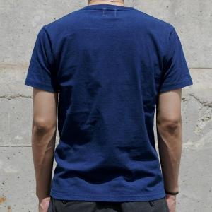 Tシャツ 半袖 コットン 綿 しっかり 藍染め 琉球藍染め メンズ カットソー|studio-ichi|04