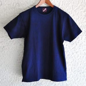 Tシャツ 半袖 コットン 綿 しっかり 藍染め 琉球藍染め メンズ カットソー|studio-ichi|06