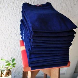 Tシャツ 半袖 コットン 綿 しっかり 藍染め 琉球藍染め メンズ カットソー|studio-ichi|07