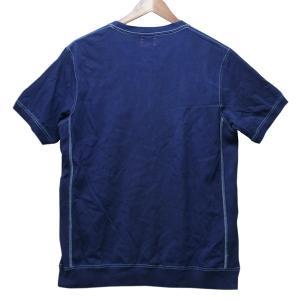 藍染め Tシャツ 半袖 サイドパネル ヘビーウェイト 琉球藍染め メンズ|studio-ichi|05