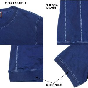 藍染め Tシャツ 半袖 サイドパネル ヘビーウェイト 琉球藍染め メンズ|studio-ichi|06