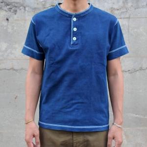 藍染め ヘンリーネック 半袖 Tシャツ 琉球藍染め メンズ|studio-ichi|02