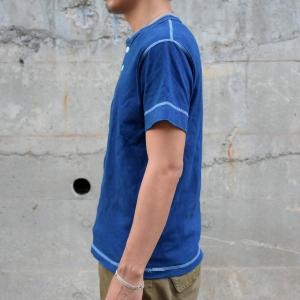 藍染め ヘンリーネック 半袖 Tシャツ 琉球藍染め メンズ|studio-ichi|03