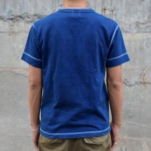 藍染め ヘンリーネック 半袖 Tシャツ 琉球藍染め メンズ|studio-ichi|04