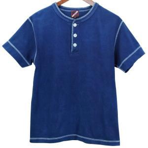 藍染め ヘンリーネック 半袖 Tシャツ 琉球藍染め メンズ|studio-ichi|05