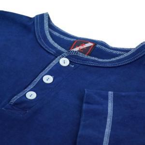 藍染め ヘンリーネック 半袖 Tシャツ 琉球藍染め メンズ|studio-ichi|06