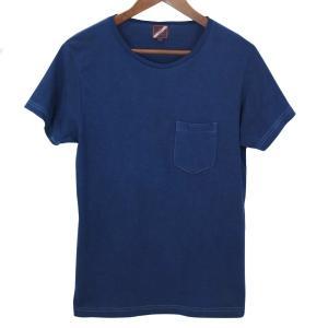 ポケットTシャツ 半袖 薄手 着心地 コットン 藍染め 琉球藍染め メンズ スリム|studio-ichi|02