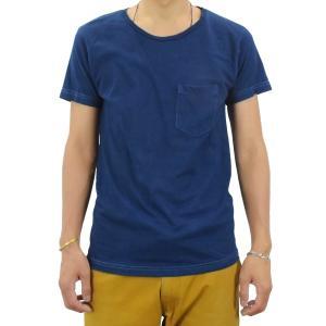 ポケットTシャツ 半袖 薄手 着心地 コットン 藍染め 琉球藍染め メンズ スリム|studio-ichi|04