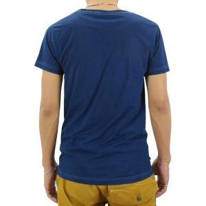 ポケットTシャツ 半袖 薄手 着心地 コットン 藍染め 琉球藍染め メンズ スリム|studio-ichi|05