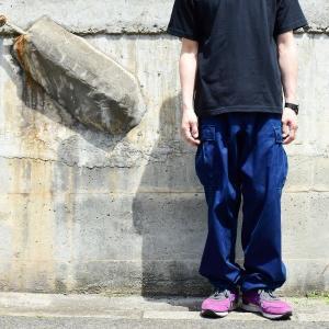 藍染め  カーゴパンツ ズボン 琉球藍染め メンズ|studio-ichi|02