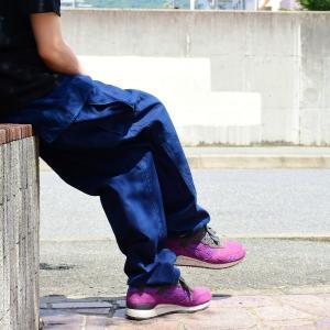 藍染め  カーゴパンツ ズボン 琉球藍染め メンズ|studio-ichi|03