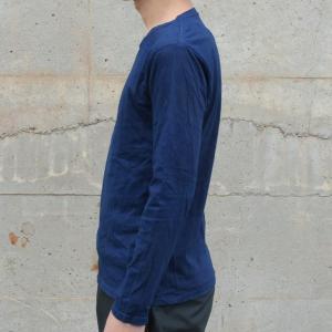 メンズ 藍染め ロンT ロングスリーブ Tシャツ 長袖|studio-ichi|03