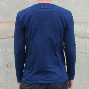 メンズ 藍染め ロンT ロングスリーブ Tシャツ 長袖|studio-ichi|04
