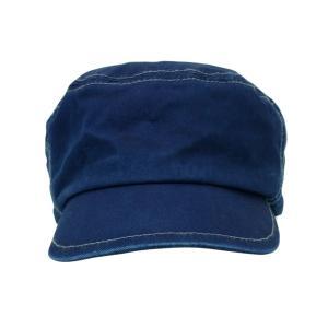 藍染め ワークキャップ インディゴ CAP 帽子 ミリタリー プレゼント ギフト ネイビー キャップ|studio-ichi|05