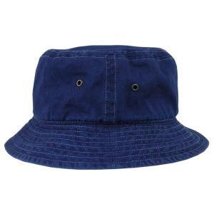 琉球 藍染め バケットハット インディゴ hat 帽子 2サイズ ギフト|studio-ichi|02