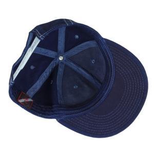 琉球藍染め キャップ 帽子 インディゴ 野球帽 フラットバイザー ツイル メンズ レディース|studio-ichi|05