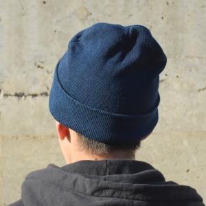 藍染め ニットキャップ メンズ レディース インディゴ 紺色 帽子 ギフト|studio-ichi|05