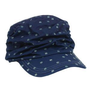 藍染 水玉しわしわ ワークキャップ 帽子 レディース プレゼント ギフト|studio-ichi