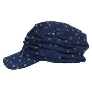 藍染め 水玉しわしわ ワークキャップ 帽子 レディース プレゼント ギフト|studio-ichi|02