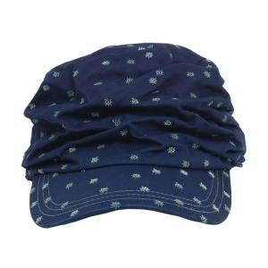 藍染め 水玉しわしわ ワークキャップ 帽子 レディース プレゼント ギフト|studio-ichi|03