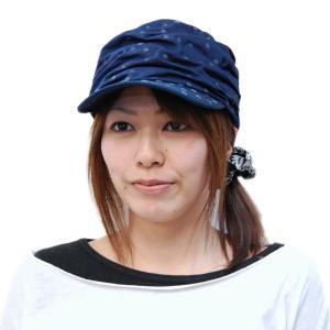 藍染め 水玉しわしわ ワークキャップ 帽子 レディース プレゼント ギフト|studio-ichi|04