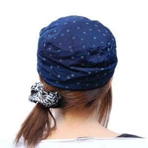 藍染め 水玉しわしわ ワークキャップ 帽子 レディース プレゼント ギフト|studio-ichi|06