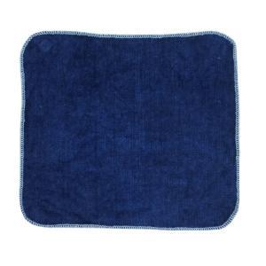 琉球藍染め ハンカチ タオル インディゴ ポケット サイズ エチケット プレゼント|studio-ichi|02
