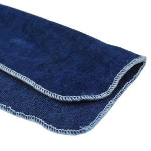 琉球藍染め ハンカチ タオル インディゴ ポケット サイズ エチケット プレゼント|studio-ichi|04