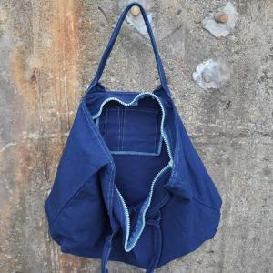 琉球藍染め トートバッグ ジップ付き キャンバス|studio-ichi|02