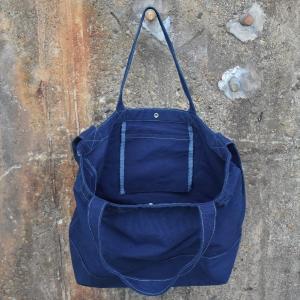 琉球藍染め 2WAYバッグ トートバッグ ショルダーバッグ キャンバス|studio-ichi|02