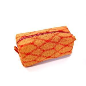 アンティーク着物ロングポーチ!10オレンジ】個性的な他には無い頑丈で繊細な和柄ポーチ!|studio-ichi