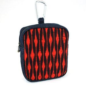 アンティーク着物ウエストポーチ!【赤縞】財布、煙草、スマートフォンケースとしても活躍する和柄ウエストポーチ!|studio-ichi