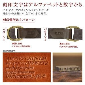 名入れ 刻印付 ヴィンテージ 真鍮 ヌメ革 リングベルト メンズ レディース コットン 綿 レザー 7サイズ オーダーメイド プレゼント ギフト|studio-ichi|06
