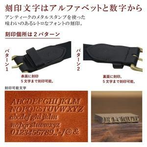 ヴィンテージ 着物 ベルト 2 ヌメ革 真鍮 コットン 綿 花柄 和柄 和風 レトロ レザー メンズ レディース 名入れ 刻印付|studio-ichi|06