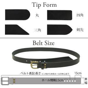 名入れ 刻印付き ヌメ革 オーダー 真鍮バックル レザー ベルト 調節可 大きいサイズ 小さいサイズ プレゼント|studio-ichi|03