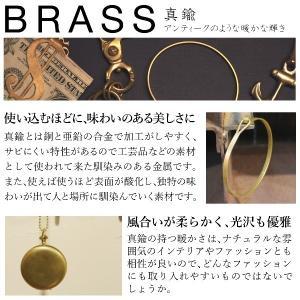 真鍮 生地 ライン バングル ブレスレット studio-ichi 06