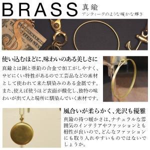 真鍮 生地 リーフ 葉模様 ピアス ペア|studio-ichi|05