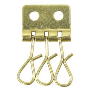 真鍮 キーケース 3連 金具 3連フック 釘 釣りがね 鉄 焼付 メッキ 3連キーケース パーツ|studio-ichi