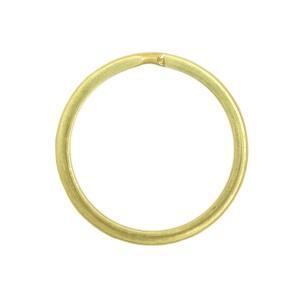 真鍮 二重キーリング キーホルダー パーツ 二重リング 平押し 無垢 生地 金色 内径25mm 外径30mm|studio-ichi